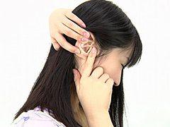 耳フェチ!耳穴観察 高木愛美